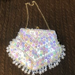 Small beaded cocktail bag. Special occasion bag